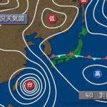 台風5号 – 出勤前の良い運動