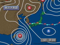 台風5号 - 出勤前の良い運動