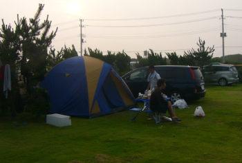梅雨明け間近の波崎キャンプ2日目