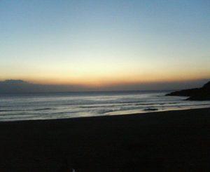 今朝の金ケ浜
