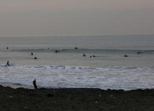 クリと久々にサーフィン