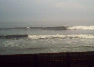 13日の金曜日、台風接近中