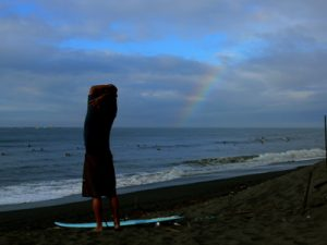Rainbow fill the sky