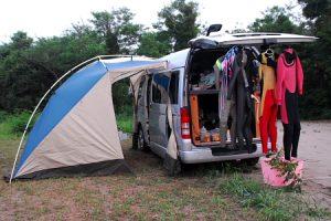 雨模様の九十九里サーフキャンプ